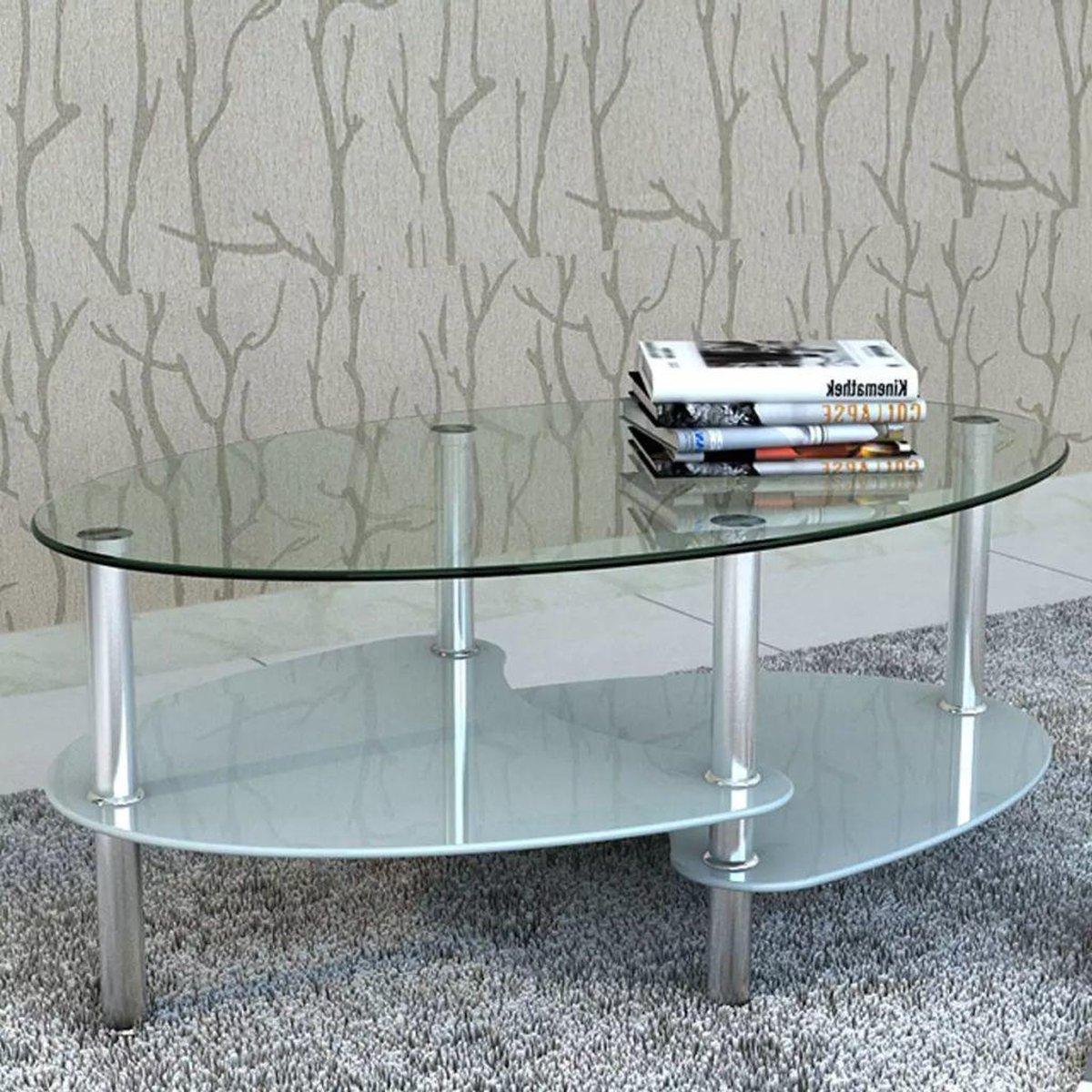 Glas Salontafel (Incl dienblad) Wit woonkamer tafel decoratie tafel salon tafel wandtafel Koffietafel online kopen