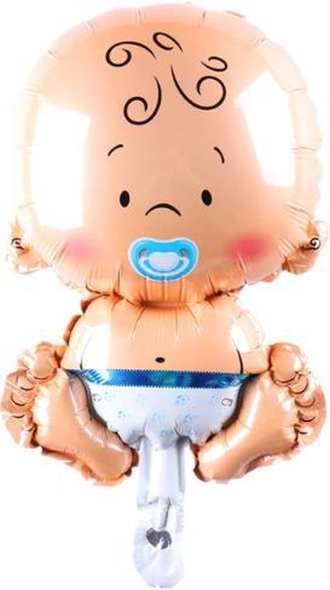Folie helium ballon Baby jongen blauw 68cm