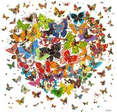"Diamond Painting ""JobaStores®"" Vlinder Hart - volledig - 30x30cm"