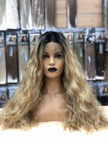 Pruiken dames/ Synthetic fiber ombre wavy hair front lace wig-Beyonce