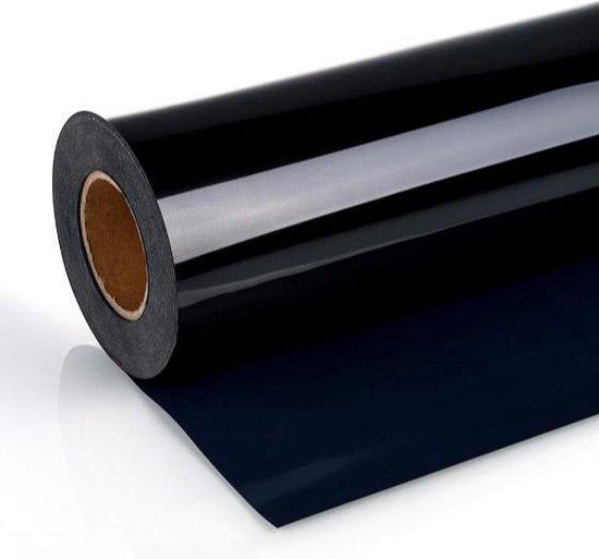Afbeelding van Iron on Heat transfer T-shirt vinyl - Warmte overdraagbaar T-shirt vinyl / Heat transfer T-shirt vinyl - 100 x 30 cm  - Zwart