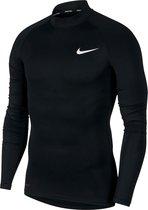 Nike Pro 5 Longsleeve  Sportshirt - Maat M  - Mannen - zwart/wit