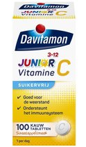Davitamon Junior Vitamine C - 3-12 jaar - 100 kauwtabletten - Sinaasappelsmaak
