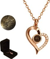 Luxore® I Love You Ketting in 100 Talen Cadeautje voor Vrouw - Liefdes Verrassing