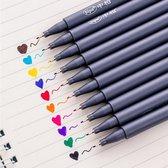 10 stuks zeer fijne gelpennen – Verschillende kleuren – gelpennen voor kinderen en volwassenen