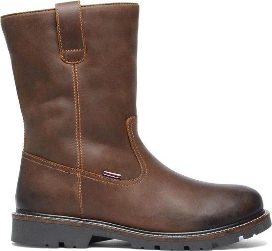 Bruine laarzen met imitatiebont voering Heren | MANFIELD