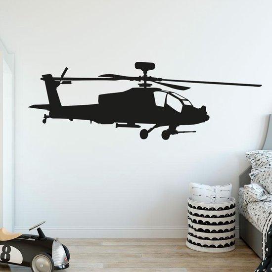 Muursticker helicopter Apache leger vliegtuig