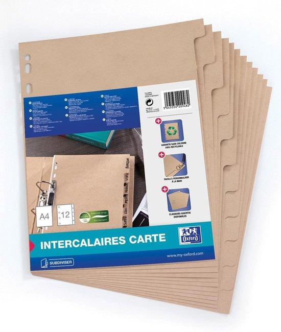 ELBA Touareg kartonnen tabbladen - A4 - 12 tabs - onbedrukt - 11 gaats - naturel