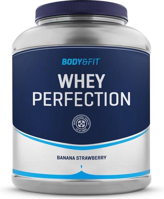Body & Fit Whey Perfection - Whey Protein / Proteine Shake - 2270 gram - Banaan & Aardbei