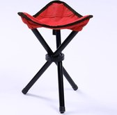 Hiking Outdoor Camping  Fishing Folding Stool Portable Triangle Chair Maximum Load 100KG Folding Chair Size:22 x 22 x 31cm(Red)