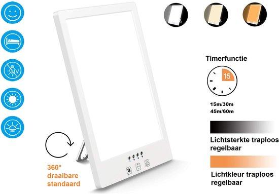 Daglichtlamp met Timer, lichttherapie-lamp/energielamp