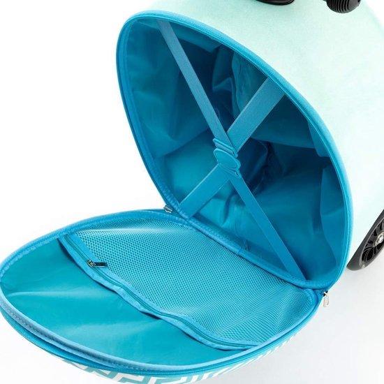 Reis Koffer | Hand Bagage | Koffer en step in 1 | Alpaca | Koffer Kinderen - 21 liter - Step met 3 Wielen | 5-10 jaar - 50 kilo - Tas Kinderen | FDBW - Bouncy Box 40x20x25 cm incl. Nekkussen Vliegtuig