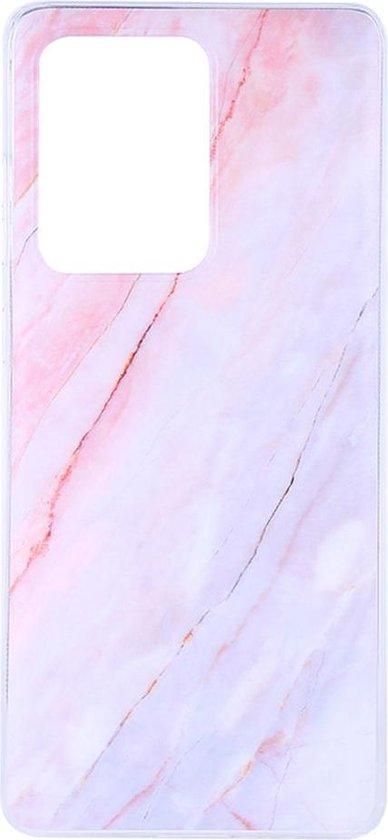 Shop4 - Samsung Galaxy S20 Ultra Hoesje - Zachte Back Case Marmer