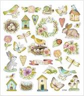 Creativ Company 29066 sticker Folie, Papier Multi kleuren 34 stuk(s)