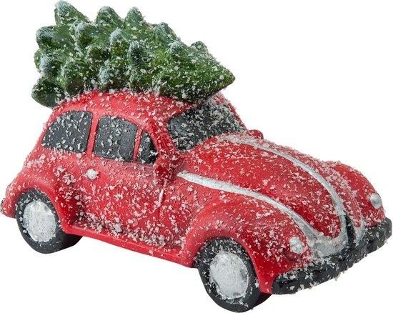Bol Com Clayre Eef Auto Met Kerstboom Kerst Versiering Decoratie Verlichting Rood