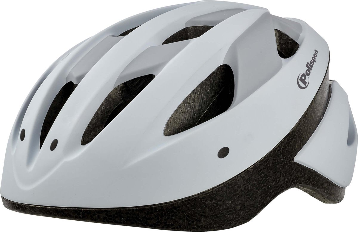 Polisport Sport Ride fietshelm -Maat L (58-62cm) - Wit/mat grijs