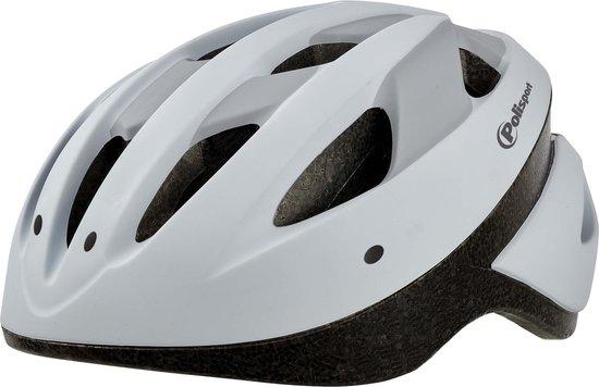 Polisport Sport Ride fietshelm -Wit/mat grijs