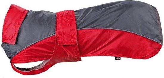 Trixie hondenjas regenjas lorient rood / grijs 25 cm