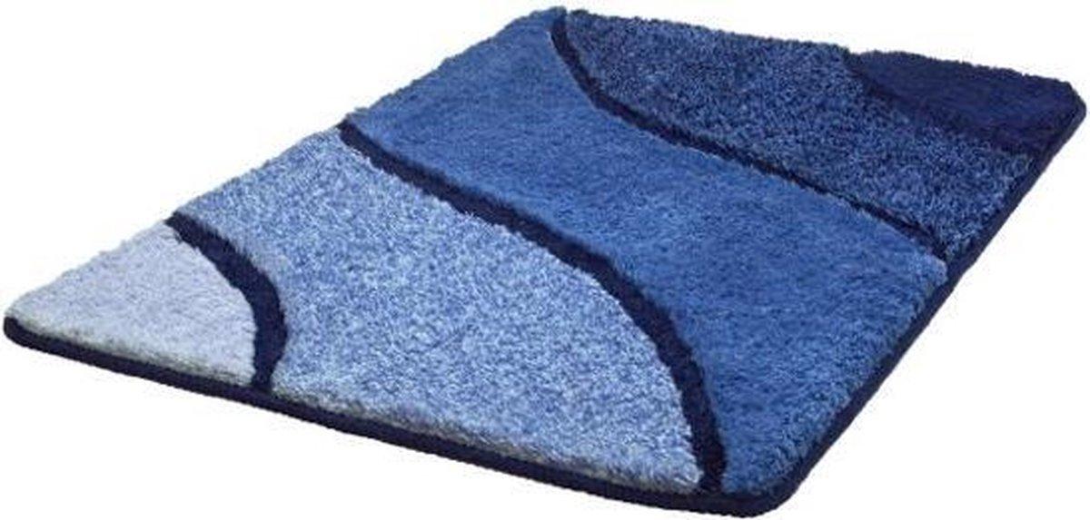 Kleine Wolke - Badmat Wave marineblauw 60x90cm - Kleine Wolke