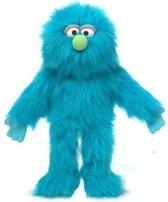 Handpop Blauwe  Monster 14'' Sillypuppets