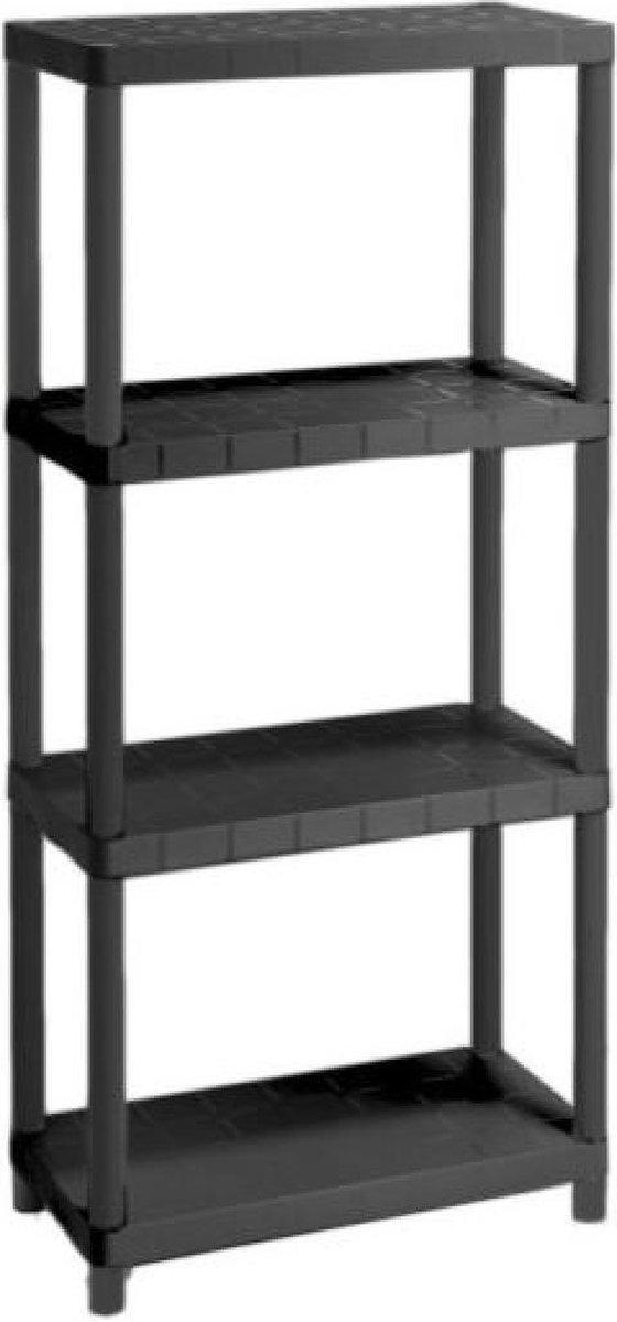 Opbergrek - Praktisch - 60 x 30 x 138 CM - Max. 125 kg - 4 planken - Zwart