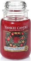 Yankee Candle Large Jar Geurkaars - Red Apple Wreath