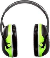 3M Peltor X4 - gehoorbeschermer - SNR 33 dB - zwart met neon groen