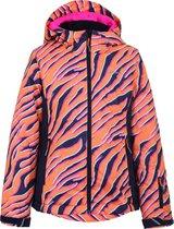 Icepeak Linn  Wintersportjas - Maat 140  - Meisjes - oranje/donker blauw/roze/wit