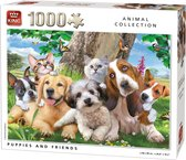 Puzzel 1000 Stukjes PUPPIES AND FRIENDS