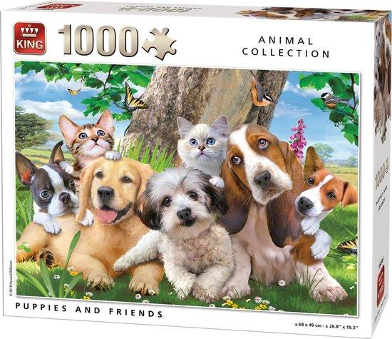 Afbeelding van Puzzel 1000 Stukjes PUPPIES AND FRIENDS