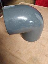 Pvc bocht 90 graden x 110mm 2x lijmmof, 16 bar