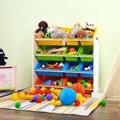 Opbergkast kinderen met 12 bakken - Opbergrek voor opbergen van speelgoed, boeken en knuffels - Kinderkast / organizer / speelgoedrek / speelgoedkast voor kinderkamer in wit - Decopatent®