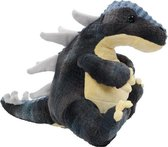 Dino grijs/geel 30 cm