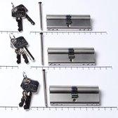 Oxloc Profielcilinder dubbel per 3 gelijksluitend 40t40