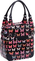 Willex Shopper Enkele Fietstas - 16 liter - Black Butterfly