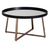 Salontafel - Bijzettafel - Spiegel - Design - Rond - Ø 78 cm