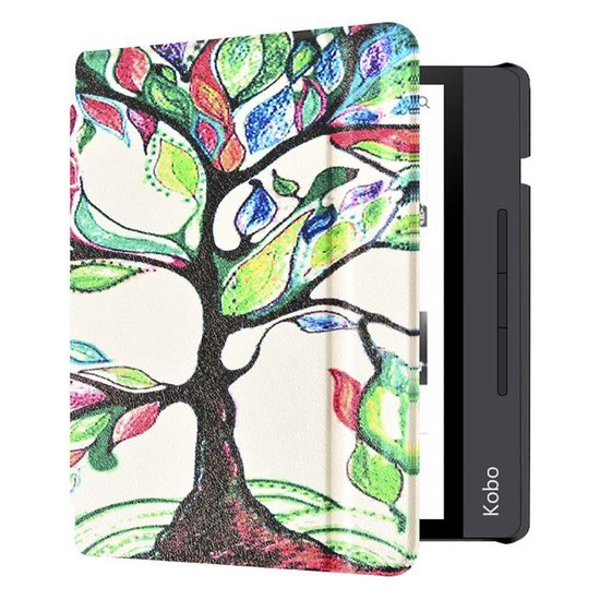 - Kobo Libra H2O Hoes - Book Cover Kleurrijke Boom