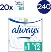 Always Cotton Protection Ultra Normal (Maat 1) - 240 Stuks - Maandverband Met Vleugels