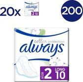 Always Cotton Protection Ultra Long (Maat 2) - 200 Stuks - Maandverband Met Vleugels