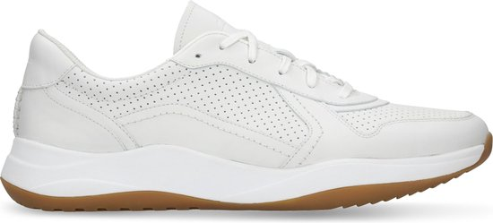 Clarks - Herenschoenen - Sift Speed - G - white leather - maat 9