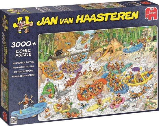 Jan van Haasteren Wild Water Raften puzzel – 3000 stukjes