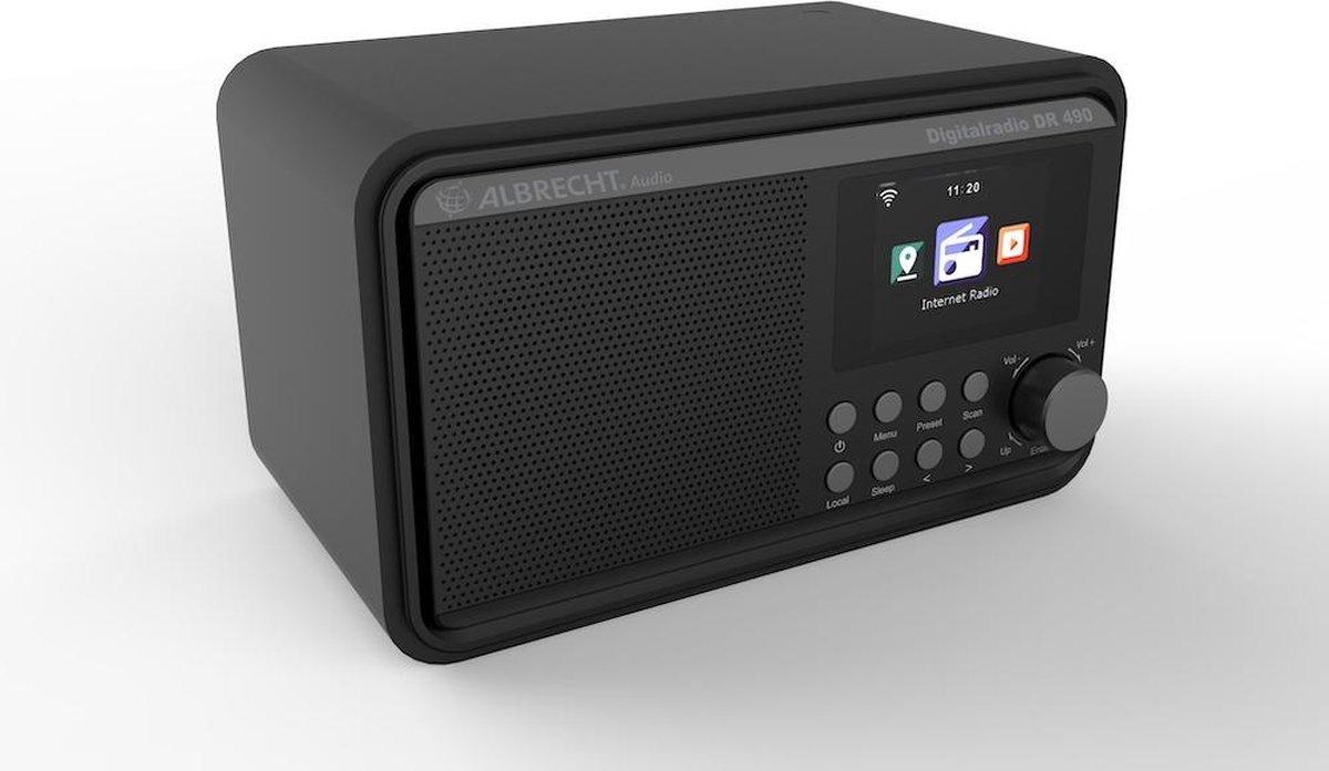 Albrecht DR 490, Hybrideradio met Internetradio, DAB+ en FM, zwart