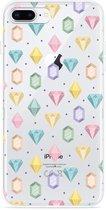iPhone 8 Plus Hoesje Diamonds