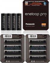 Panasonic eneloop PRO Sliding  AA R6 2550mAh 1.2V Oplaadbare Batterij - 12 Stuks (3 Blisters a 4St)