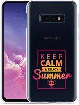 Galaxy S10e Hoesje Summer Time
