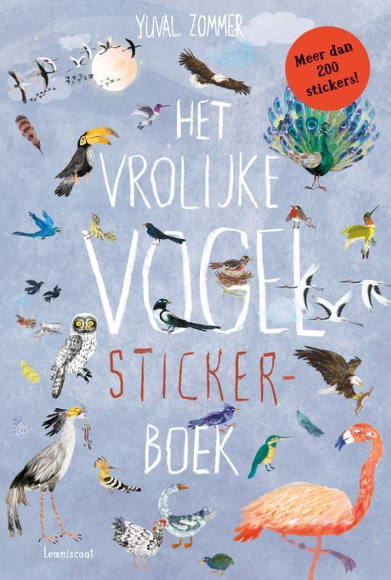 Boek cover Het vrolijke vogel stickerboek van Yuval Zommer (Paperback)