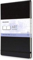 Moleskine Art Waterverf Album A4 - Hard cover - Blanco - Zwart
