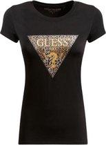 Guess SS Ghost Leopard Logo R3 Dames T-Shirt