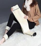 Thermo legging - fleece legging dames - fleece panty - thermo panty - winter legging - fleece broek - Legging dames - breedte 28 cm/lengte 90 cm