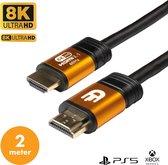 Drivv. Premium HDMI Kabel 2.1 - Ultra HD High Speed 8K - HDMI 2.1 - HDMI naar HDMI - Xbox Series X & PS5 HDMI Kabel - HDMI Kabel 2 Meter - PlayStation 5